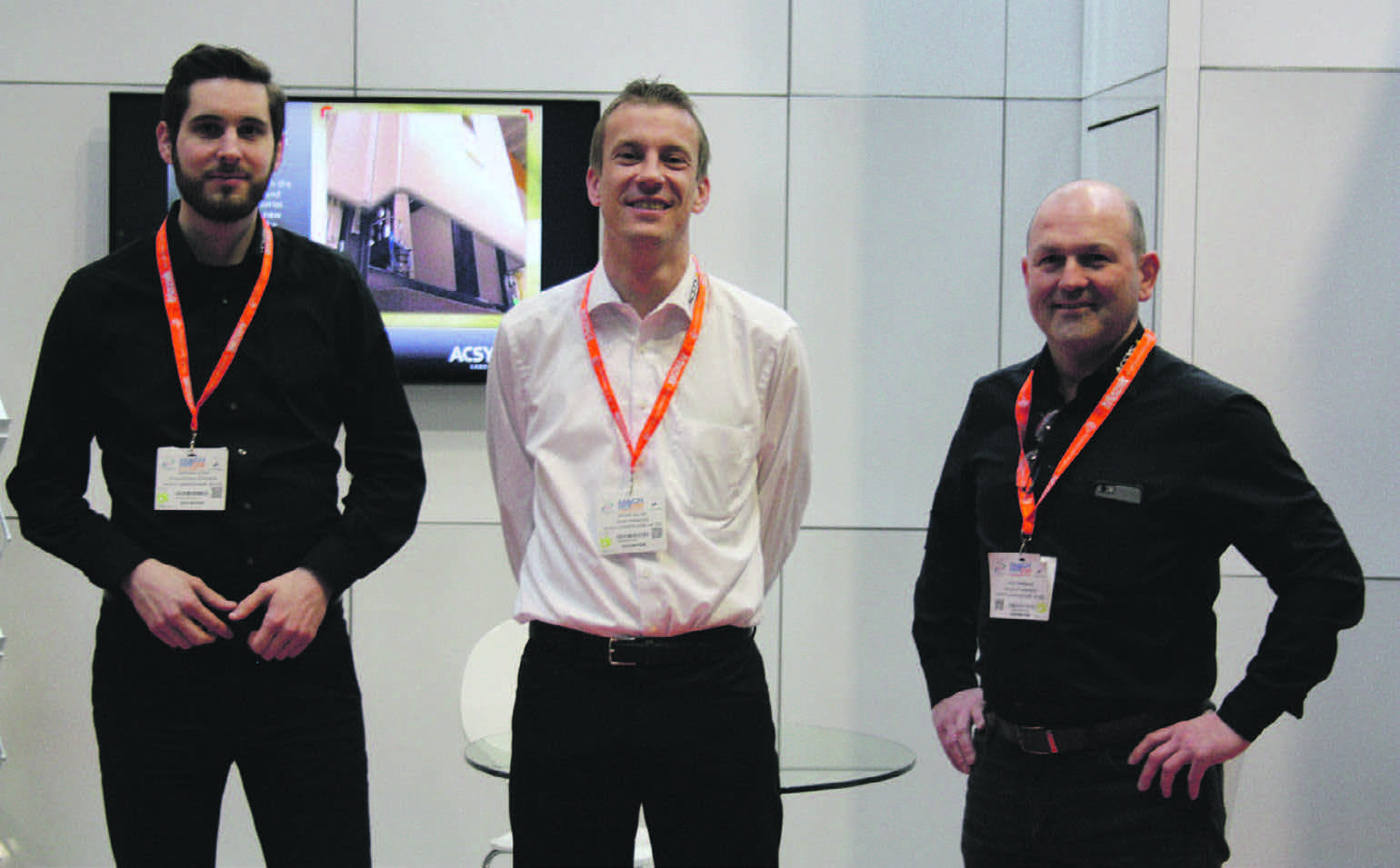 Andreas Stirm, Laser Application Engineer (Left), Dieter Miller, Sales Director Export (Centre) and Mick Hemmings, UK Sales Manager.